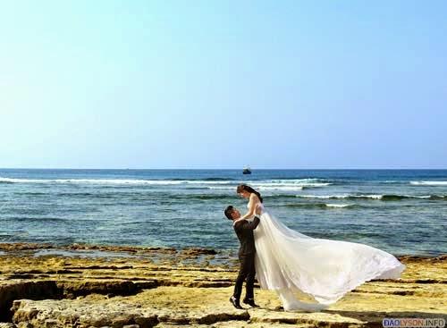 Đẹp mê hồn ảnh cưới tại Lý Sơn của cặp đôi Việt Kiều