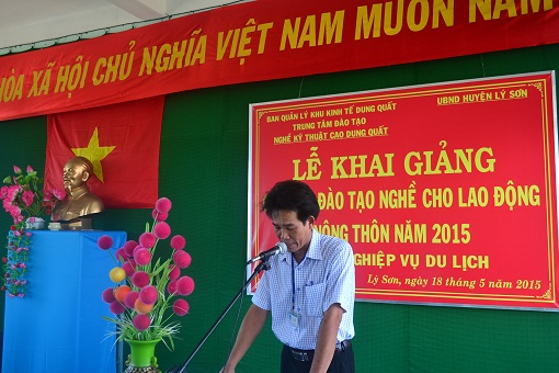 Lý Sơn: Khai giảng lớp học Nghiệp vụ du lịch - Hình 2