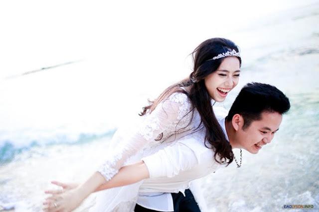Ảnh cưới lãng mạn của cặp đôi 9X tại đảo Lý Sơn