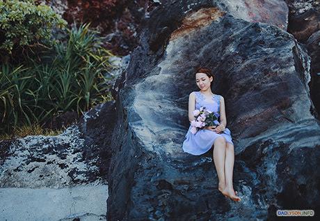 """Bộ ảnh cưới đẹp """"lung linh"""" trên đảo Lý Sơn của cặp đôi Sài thành"""