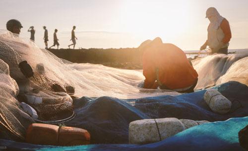 Buổi chiều của gia đình ngư phủ trên đảo Lý Sơn - hình 1