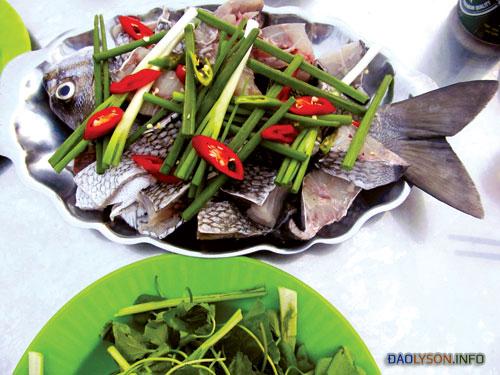 Lẩu cá tà ma ở Lý Sơn