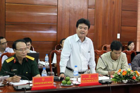 Thứ trưởng Bộ Y tế Phạm Lê Tuấn phát biểu tại buổi làm việc