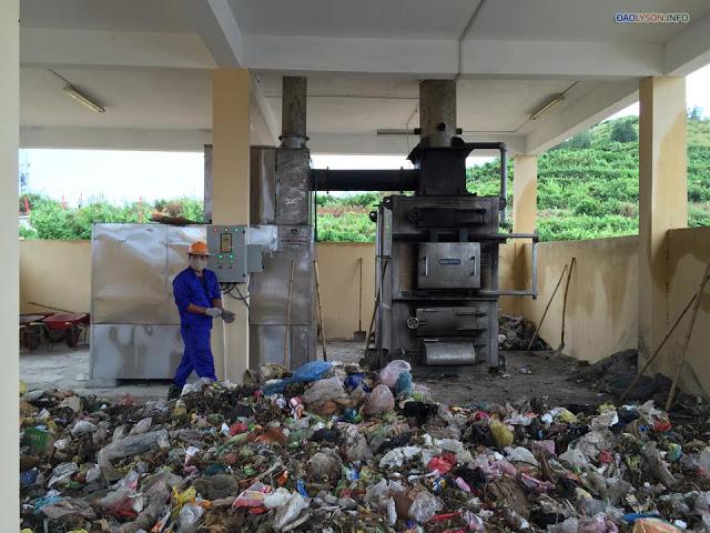Nhà máy xử lý rác ở Lý Sơn mới vận hành đã lạc hậu