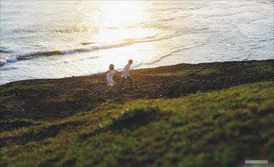 Trong bộ ảnh cưới có nhiều khoảnh khắc hạnh phúc, lãng mạn của uyên ương, nhưng nhiếp ảnh gia cũng không quên ghi lại hình ảnh cặp đôi trong khung cảnh đẹp.