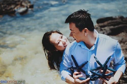Bộ ảnh cưới mang đậm sắc màu biển cả
