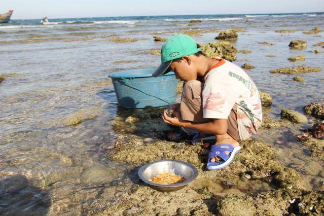 Đảo Lý Sơn - Thợ lặn nhí trổ tài trên biển - Hình 12