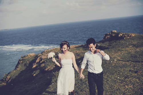 Huỳnh Trang đã được thoả ước mong thực hiện bộ ảnh cưới của đời mình tại thiên đường biển Lý Sơn