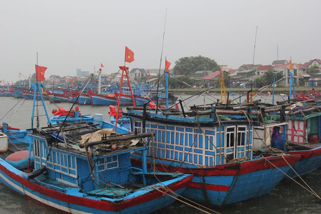 Đến chiều 14.9, nhiều tàu thuyền của ngư dân Quảng Ngãi về cập bến an toàn