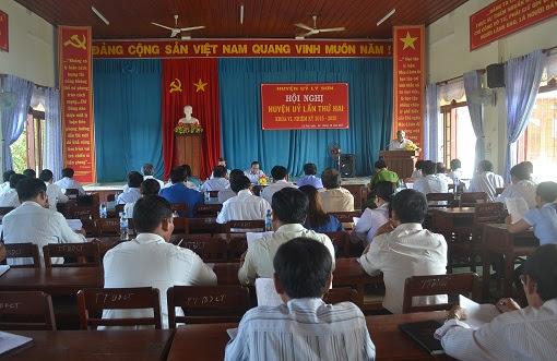 Hội nghị Huyện ủy mở rộng ở Lý Sơn - Hình 1