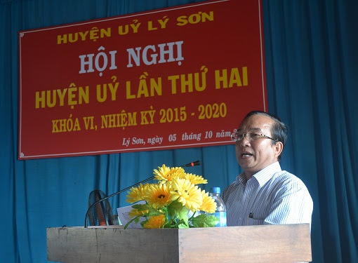 Hội nghị Huyện ủy mở rộng ở Lý Sơn - Hình 5