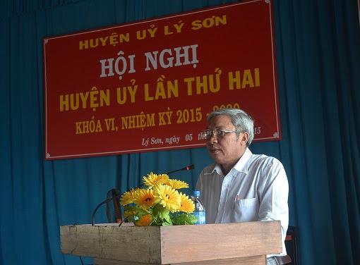 Hội nghị Huyện ủy mở rộng ở Lý Sơn - Hình 2