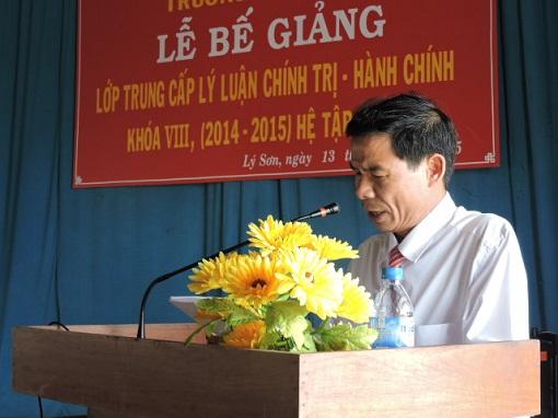 Bế giảng lớp Trung cấp Chính trị - Hành chính tại Lý Sơn - Hình 2