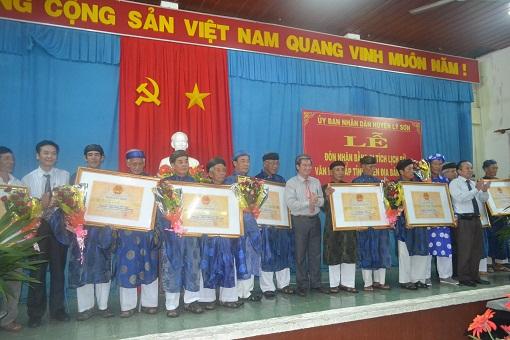 Lý Sơn tổ chức lễ đón nhận bằng xếp hạng di tích lịch sử, văn hóa cấp tỉnh - Hình 4