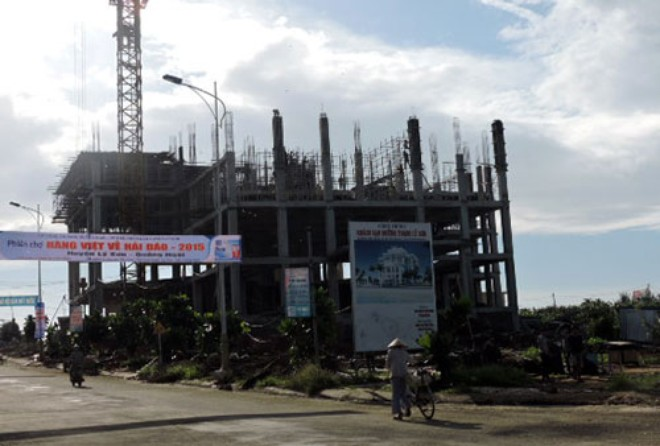 Một công trình xây dựng khách sạn quy mô lớn đang được triển khai ở đảo Lý Sơn, Quảng Ngãi