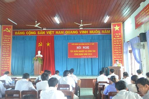 Liên đoàn lao động huyện Lý Sơn tổ chức lớp tập huấn nghiệp vụ công đoàn 2015 - Hình 1