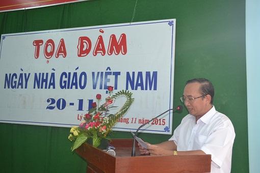Trường THPT Lý Sơn tổ chức tọa đàm nhân ngày Nhà giáo Việt Nam 20/11 - Hình 4