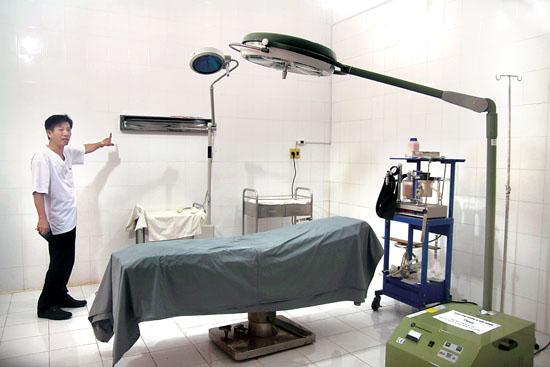 Phòng mổ của Trung tâm Y tế Quân dân y Lý Sơn.