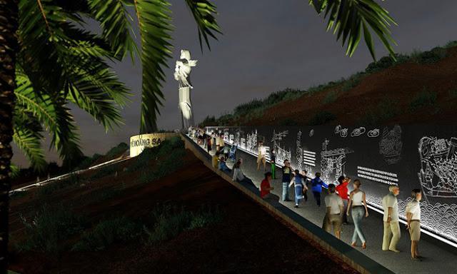 Dựng cảnh 3D dự án 'Người mẹ thắp lửa' trên đảo Lý Sơn - Hình 4