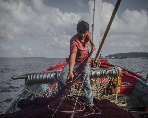 Ngư dân Lý Sơn Võ Văn Giàu