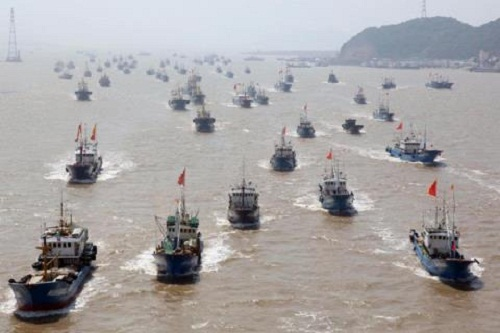 9.000 tàu cá Trung Quốc rầm rộ tiến vào Biển Đông tháng 8/2015