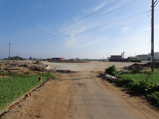 Tuyến đường từ UBND huyện đến UBND xã An Hải đang xây dựng