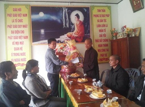 Thăm và chúc tết Ban trị sự Giáo hội phật giáo huyện và các cơ sở tôn giáo - Hình 1