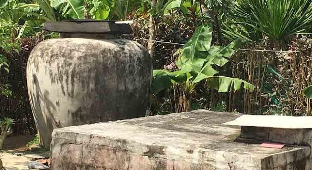 Lu, bể mà người dân đảo Bé dùng để tích nước mưa