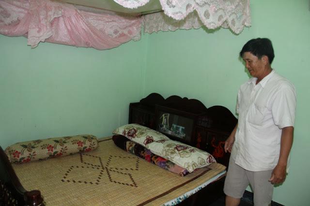 Một trong 4 phòng nghỉ Home stay của ông Nguyễn Chơ ở An Vĩnh, Lý Sơn.