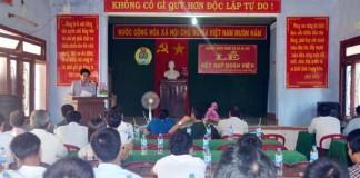 Buổi lễ kết nạp đoàn viên