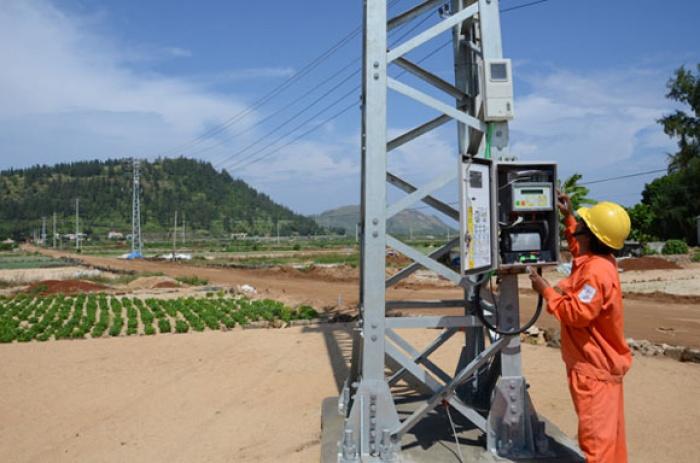 Lưới điện tại Lý Sơn được đầu tư mới theo lộ trình xây dựng lưới điện thông minh (ảnh EVN CPC)