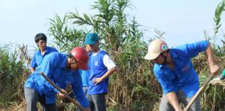 """Đoàn viên, thanh niên tham gia chương trình """"Hãy chung tay vì biển xanh - đảo Lý Sơn xanh"""""""
