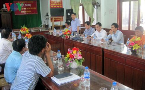 Trung tâm Kỹ thuật truyền dẫn phát sóng Đài THVN làm việc với đại diện UBND huyện Lý Sơn về việc bàn giao Trạm phát sóng truyền hình.