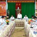 Phó Bí thư Tỉnh ủy Trần Văn Minh phát biểu tại buổi làm việc