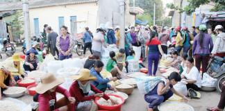 Tỏi Lý Sơn chủ yếu được bán cho du khách và nhu cầu làm giống xuống vụ của người dân - Ảnh: TRẦN MAI