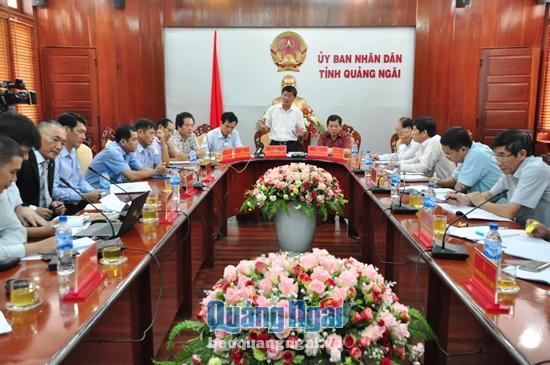 Chủ tịch UBND tỉnh Trần Ngọc Căng phát biểu chỉ đạo tại buổi làm việc.