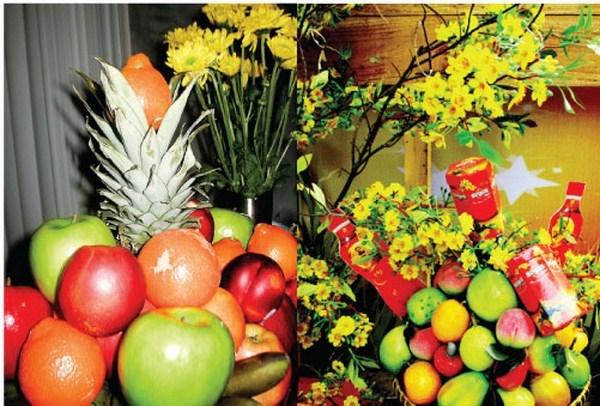 Hoa quả là thứ không thể thiếu trong ngày Tết.