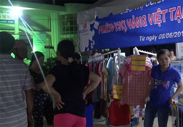 Người dân huyện Lý Sơn ưa chuộng hàng Việt.