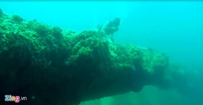 Cổng tò vò dày đặc san hô dưới vùng biển gần bờ xã đảo An Bình (đảo Bé), huyện đảo Lý Sơn. Ảnh: T.Lam.