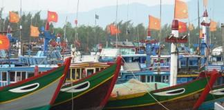Tàu cá của ngư dân Lý Sơn
