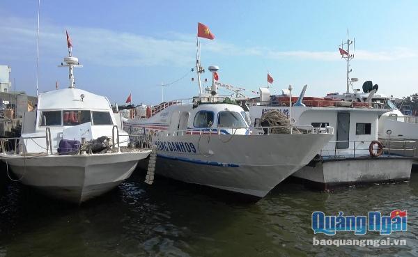 Mỗi ngày có 8 chuyến tàu hoạt động trên tuyến vận tải Sa Kỳ- Lý Sơn để phục vụ nhu cầu đi lại của người dân và khách du lịch