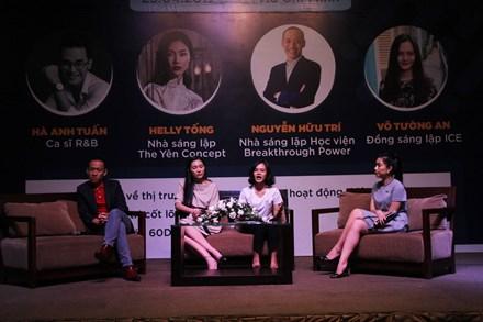 Các diễn giả truyền đến bạn trẻ có mặt tại sự kiện những khát vọng đóng góp thiện nguyện cho cộng đồng xã hội