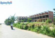 Nhiều dự án đầu tư xây dựng ở Lý Sơn bị tạm dừng do sai phạm.