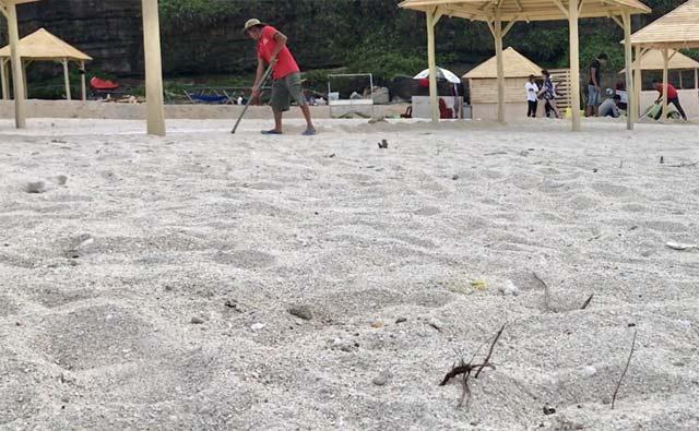 Người dân cho rằng loại cát được đổ tại đây là cát lấy tại vùng ven biển Lý Sơn