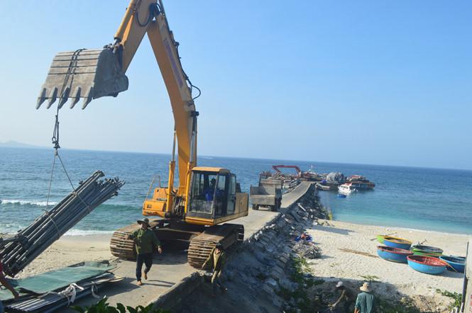 Công ty Thành An thi công dự án nâng cấp cầu cảng đảo Bé