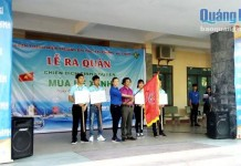 """Đoàn Trường ĐH TC- KT tổ chức lễ ra quân Chiến dịch tình nguyện """" Mùa hè xanh"""" năm 2017"""