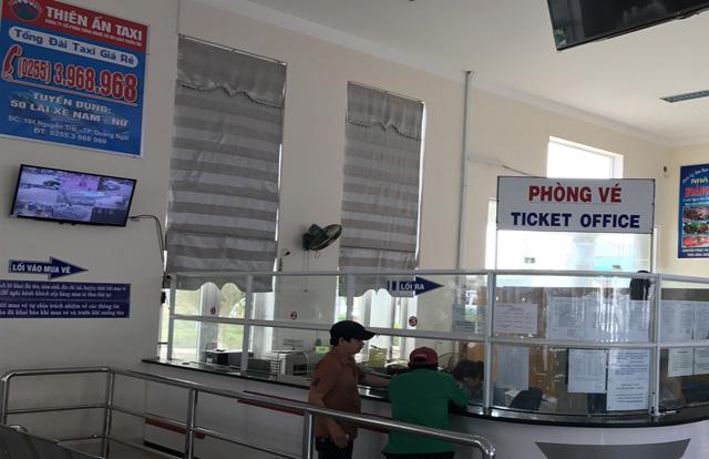 Một góc quầy bán vé tuyến Sa Kỳ-Lý Sơn