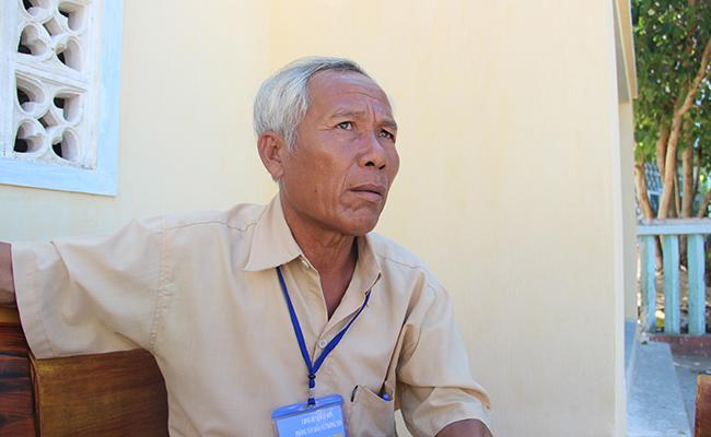 Bác Phạm Quang Ri, Trưởng ban quản lý di tích Âm linh tự và mộ lính đội Hoàng Sa
