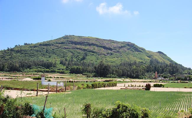 Núi Thới Lới lớn nhất đảo Lý Sơn nhưng trọc lóc cây cối