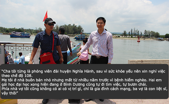 Ông Vy trở về đất liền với gia đình sau một tuần làm việc trên đảo